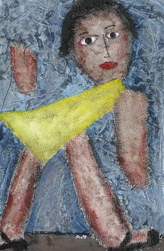 "266 ""Woman Walking"" (30X20, Mixed media on cardboard) 2009 (g)"
