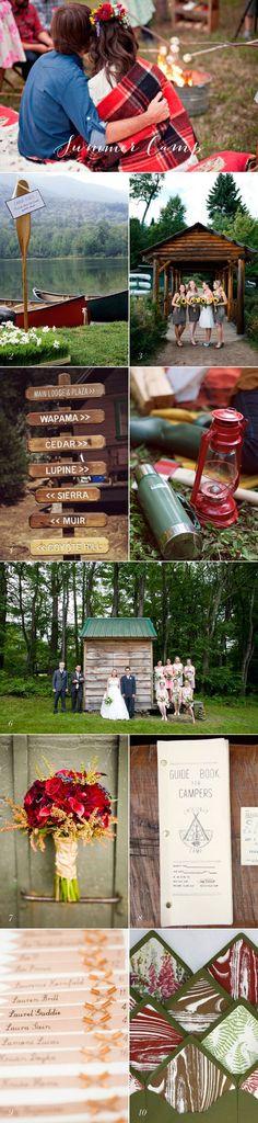 Summer Camp Wedding Ideas - Elizabeth Anne Designs - New Ideas Camp Wedding, Forest Wedding, Summer Wedding, Our Wedding, Dream Wedding, Campground Wedding, Wedding Stuff, Camping Style, Camping Theme