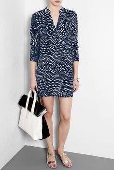 Tibi Dress + 3.1 Phillip Lim Tote