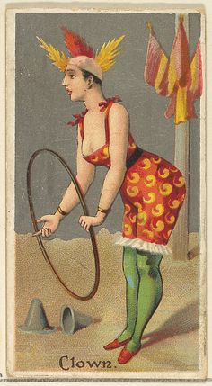 Clown, from the Occupations for Women series (N166) for Old Judge and Dogs Head Cigarettes