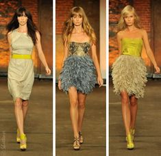 Christian Siriano. Love the dress in the middle!!!