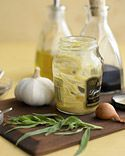 No-Waste Dressing  When there's just a tiny bit of mustard left in the jar, don't throw it out. Instead, toss in a few ingredients, and shake a tangy Dijon vinaigrette right in the container.