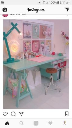 26 Modern Decoration To Not Miss office craft room girls bedroom casas Girl Bedroom Designs, Girls Bedroom, Bedroom Decor, Bedroom Crafts, Childrens Bedroom, Decorating Bedrooms, Bedroom Modern, Bedroom Office, Cozy Bedroom