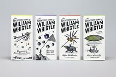 Packaging design for tea and coffee brand William Whistle by Horse