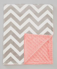 Take a look at this The Minky Boutique Silver Zigzag & Coral Minky Stroller Blanket on zulily today!