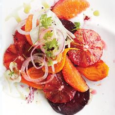 Our fresh take on the classic Moroccan salad pairs shaved fennel and red onion with assorted beets and oranges for color contrast.
