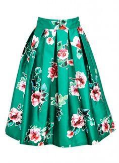 Milly Floral Full Skirt