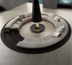 Furniture Blue Lounge Design Also Black White Circular Conversation Pit Central Fireplace Modern Furniture Living Room Sets Ashley Various Seating Chairs Lounge Small Living Spaces Area