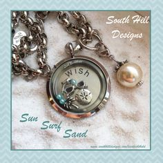 Wish I was here! South Hill Designs, Pocket Watch, Lockets, Personalized Items, Charms, Lisa, Accessories, Pocket Watches, Rockets