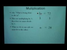Solving Equations with Whole Numbers  Part 2