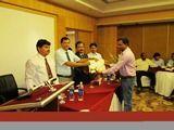 Dr. Prashant Sukesh Meshram receiving certificate of Fellowship in minimal access Surgery at World Laparoscopy Hospital. For more detail please log on to www.laparoscopyhospital.com