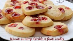 Biscuits au sirop d'érable et fruits confits