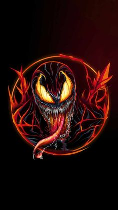 Venom Carnage Fire IPhone Wallpaper - IPhone Wallpapers