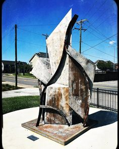 """""""Road to the Mountaintop,"""" Thornton Dial (2014). Charlotte and 16th. #publicart #nashvilleart #nashville"""