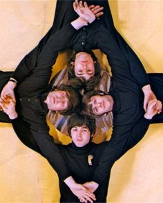 the Beatles I love this pic of them<3