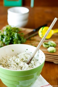 Cilantro Lime Coconut Rice - My Favorite Way To Serve This Simple Coconut Milk Rice Is With A Little Lime And Cilantro Stirred In. Superior to anything Chipotle Cilantro Lime Rice, A Fantastic Easy Weeknight Dinner Side Dish Recipe Via Unsophisticook On Milk Recipes, Side Dish Recipes, Real Food Recipes, Vegetarian Recipes, Cooking Recipes, Yummy Food, Healthy Recipes, Coconut Milk Rice, Cooking With Coconut Milk