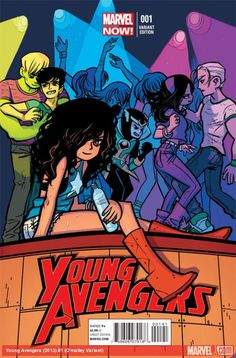 Young Avengers (2013) #1 variant cover by Bryan Lee O'Malley    http://marvel.com/news/story/19785/young_avengers_liveblog