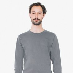 27a067d61ef Get the Modern Look By American Apparel Unisex Fine Jersey Long-Sleeve T- Shirt