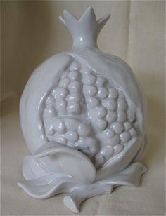 POMEGRANATE~White ceramic...