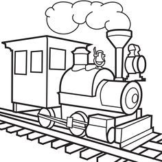 Unique Steam Train coloring picture for kids