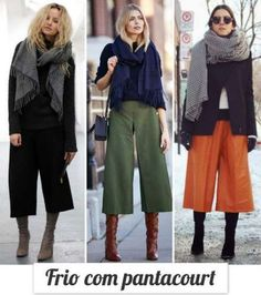 29 Best Ideas for how to wear culottes in winter trousers Fall Winter Outfits, Autumn Winter Fashion, Winter Boots, Winter Clothes, Fall Fashion, Culotte Style, How To Wear Culottes, Black Culottes Outfit, Pantalon Large