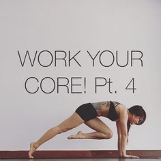 "WORK YOUR CORE! PT.4 A ""knee crunch"" based exercise set that is great to do in prep & training for arm balances & Inversions NOTE: Reps for 10x for each leg Holds for 10s Always keep squeezing foot to butt ⚡️ PLANK 1. CHEST TO FLOOR From plank round the spine & pull one knee to the chest then tap it to floor under your chest keeping shoulders over wrists the entire time 2. ELBOW TO WRIST Same knee goes to same arm & work the knee up & down without touch the floor 3. OPP ELBOW TO WRIST Same…"