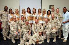 New Orleans Saints cheerleaders visit troops in Iraq