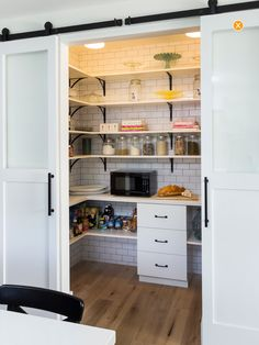 Love this idea for the back of the pantry