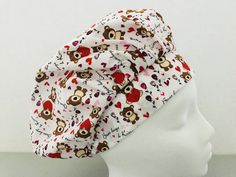 Bear Hugs, Scrub Hats, Color Change, Kisses, Scrubs, Cotton Fabric, My Etsy Shop, Cap, Sewing
