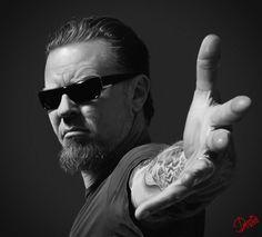 Portrait James Hetfield, Metallica by on DeviantArt Metallica, James Hetfield, Music Love, My Music, Heavy Metal, Learn Guitar Chords, Who Plays It, Robert Trujillo, Kirk Hammett