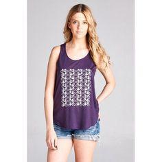 BICYCLE Tank Top T Shirt Print Casual Light Weight S/M M/L Purple Tee Bike Bikes #LASoul #TankCami #Casual
