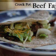 Crock Pot Beef Fajitas