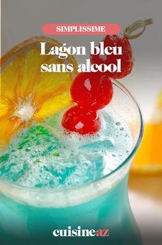 La recette sans alcool du traditionnel cocktail: le lagon bleu. #recette#cuisine#cocktail#lagonbleu #sansalcool #boisson #cocktailsansalcool Cocktails, Snow Globes, Food, Blue Lagoon, Bartenders, Drink, Traditional, Crosses, Craft Cocktails