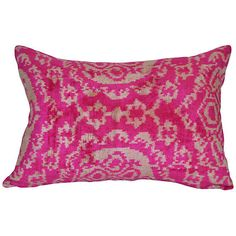 Sila Ikat 16x24 Pillow Pink Decorative Pillows ($159) ❤ Liked On Polyvore  Featuring Home