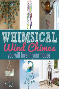 Home Decor | Do you love hearing the sound of wind chimes on a breezy day? These whimsical wind chimes look just as pretty as they sound! | #Ad