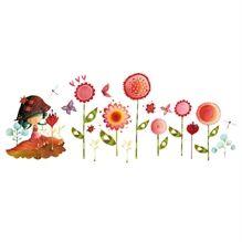 Appliqué mural 1 feuille Ketto- Jungle de fleurs  / Ketto's wall decor 1 sheet - Jungle of flowers * www.kettodesign.com