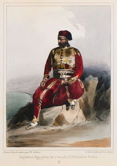 A captain (general) of the army of Ibrahim Pasha of Egypt, during the Cretan campaign. - LE BLANC, Theodore - TRAVELLERS' VIEWS - Places – Monuments – People Southeastern Europe – Eastern Mediterranean – Greece – Asia Minor – Southern Italy, 15th -20th century