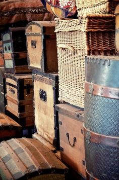 Trunks, barrels, and baskets. Could it get any better?