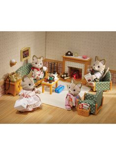 105 best calico critters images in 2013 sylvanian - Calico critters deluxe living room set ...