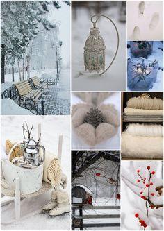 amazing winter wonderland mood board for inspiration