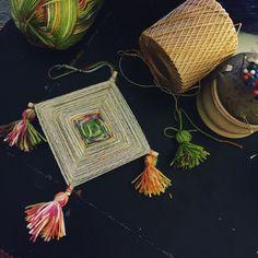 Hand-made gods eye #beaushelle #protection #fiber #sungod #ornament #gonnahittheshopsoon #artist