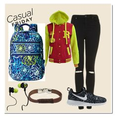 """""""casual #43"""" by bubbleness-984 on Polyvore featuring Topshop, CO, Vera Bradley, ASOS, NIKE and Monster"""