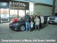 Congratulations to Reyes and Munoz family on the purchase of a very nice #toyota #camry SE. We appreciate the business and welcome you all to our family of happy and satisfied customers. www.empiremotors.org #montclair #pomona #chino #ontario #upland #fontana #ie #oc #la #llosangeles #victorville #bakersfied #corona #riverside #eastvale #miraloma