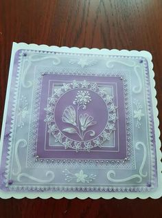 Brenda Chaytor design Hobbies And Crafts, Crafts To Make, Parchment Design, Parchment Cards, Kirigami, Paper Cards, Holiday Ornaments, Quilling, Birthday Cards