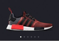 Adidas NMD R1 Runner Primeknit S79158 Lush Red Core Black Size 10 | eBay