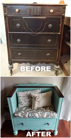 Dresser turned Bench
