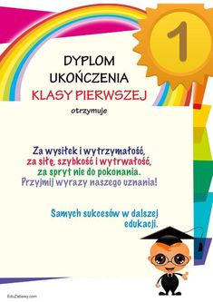 Dyplom ukończenia klasy 1 Dots, Education, Speech Language Therapy, Stitches, Onderwijs, Learning