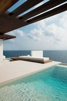 modern architecture - juma architects - dupli dos house - ibiza - spain - exterior view - swimming pool