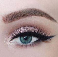 rosy pink glitter eyes