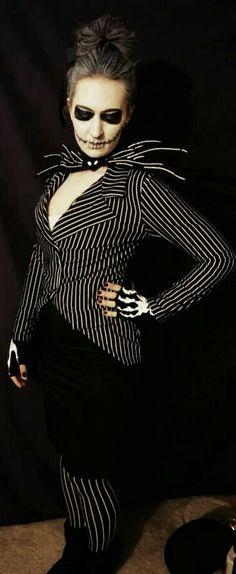 Nightmare Before Christmas. Female Jack Skellington costume.